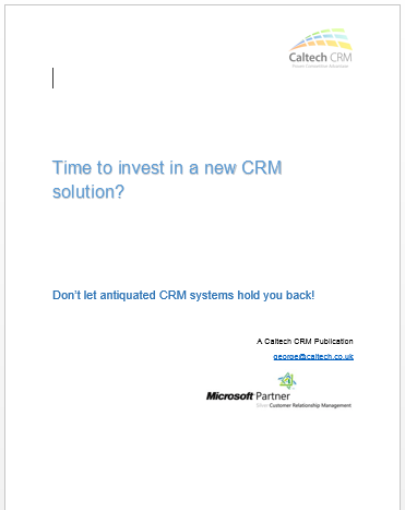 Second Generation CRM Move to Dynamics CRM