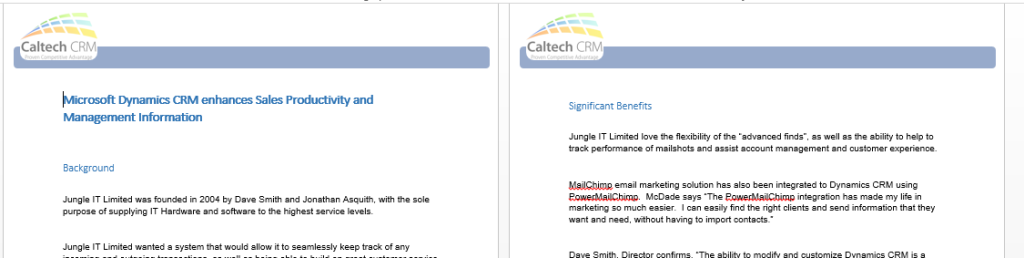 Dynamics CRM Case Study Jungle IT Limited