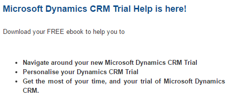 Microsoft Dynamics CRM Trial Ebook