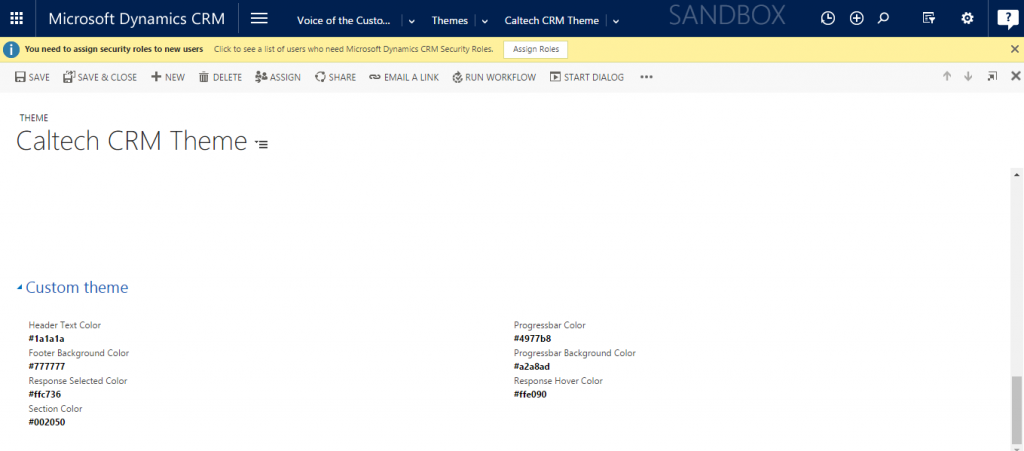 Microsoft Dynamics CRM Voice of the Customer Themes