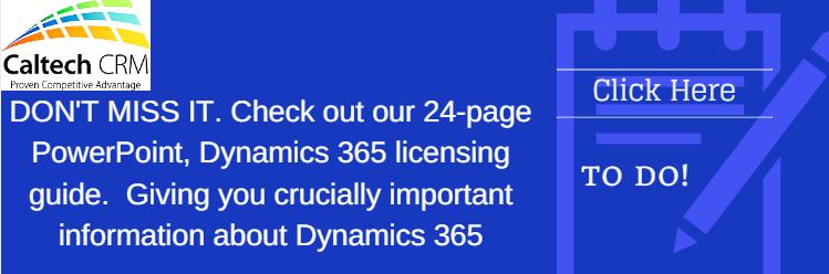 Microsoft Dynamics 365 Licensing Summary December 2016