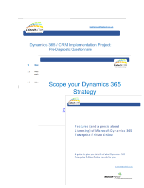 Dynamics 365 Enterprise Edition Implementation Kit
