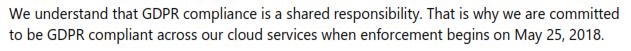 Microsoft Dynamics 365 GDPR Commitment