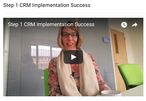 CRM implementation Strategy Step 1 video