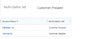Using Multi-option sets Dynamics 365
