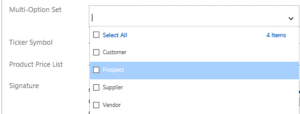 Multi-option set 2 working with Dynamics 365