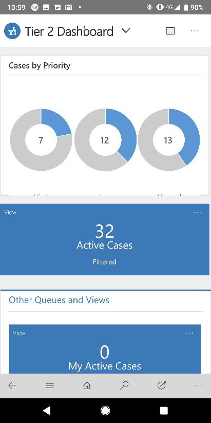 Dynamics 365 active cases view